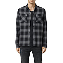 Buy AllSaints Pittston Long Sleeve Shirt, Grey Online at johnlewis.com