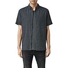 Buy AllSaints Elmira Mini Print Short Sleeve Shirt, Ink Navy Online at johnlewis.com