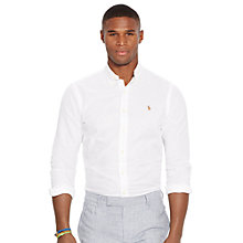Buy Polo Ralph Lauren Custom Fit Pin Point Collar Long Sleeve Sport Shirt, White Online at johnlewis.com