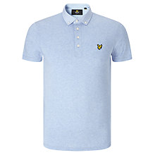 Buy Lyle & Scott Cotton Polo Shirt, Blue Marl Online at johnlewis.com
