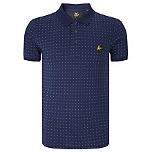 Buy Lyle & Scott Square Dot Polo Shirt, Navy Online at johnlewis.com