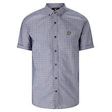 Buy Lyle & Scott Square Dot Short Sleeve Shirt, Navy Online at johnlewis.com