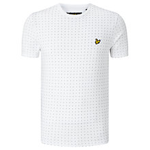 Buy Lyle & Scott Square Dot T-Shirt, White Online at johnlewis.com