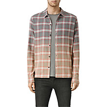 Buy AllSaints Yakima Faded Check Shirt, Grey/Sphinx Pink Online at johnlewis.com