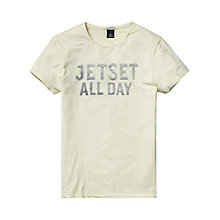 Buy Scotch & Soda Rock The Beach T-shirt, Flash Yellow Online at johnlewis.com