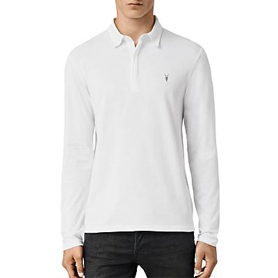 Image of AllSaints Brace Long Sleeve Polo Shirt