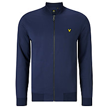 Buy Lyle & Scott Tricot Zip Through Bomber Jacket, Navy Online at johnlewis.com