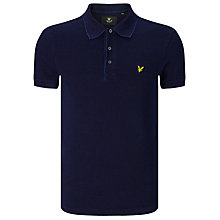 Buy Lyle & Scott Cotton Polo Shirt, Dark Indigo Online at johnlewis.com