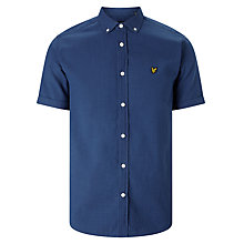 Buy Lyle & Scott Oxford Short Sleeve Shirt, Light Indigo Online at johnlewis.com