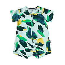 Buy Bonds Baby Zip Wondersuit Camouflage Short Romper, Green Online at johnlewis.com