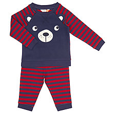 Buy John Lewis Baby Bear Striped Pyjamas, Red/Navy Online at johnlewis.com