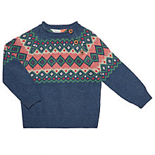 Buy John Lewis Baby Fair Isle Pie Crust Jumper, Blue/Multi Online at johnlewis.com