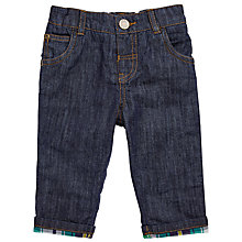 Buy John Lewis Baby Turn Up Denim Trousers, Dark Blue Online at johnlewis.com