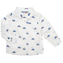 Buy John Lewis Baby Hedgehog Print Shirt, White/Navy Online at johnlewis.com
