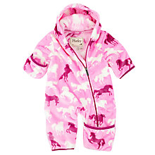 Buy Hatley Baby Fairy Tale Horses Pramsuit, Pink Online at johnlewis.com