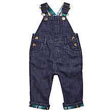 Buy John Lewis Baby Denim Dungarees, Blue Online at johnlewis.com