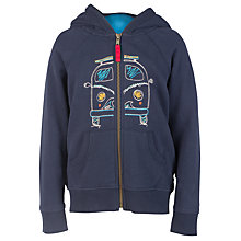 Buy Frugi Organic Boys' Camper Van Lucas Hoodie, Navy/Multi Online at johnlewis.com