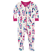 Buy Hatley Baby Happy Owls Sleepsuit, White/Multi Online at johnlewis.com