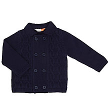 Buy John Lewis Baby Collared Cardigan, Navy Online at johnlewis.com
