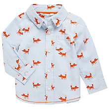 Buy John Lewis Baby Fox Print Shirt, White Online at johnlewis.com