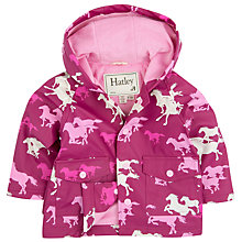 Buy Hatley Baby Fairy Tale Horses Raincoat, Pink Online at johnlewis.com
