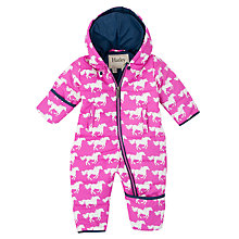 Buy Hatley Baby Fairy Tale Horses Snowsuit, Pink Online at johnlewis.com