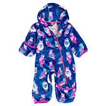 Buy Hatley Baby Happy Owls Pramsuit, Purple Online at johnlewis.com
