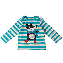 Buy Frugi Organic Baby Badger Stripe Top, Blue Online at johnlewis.com