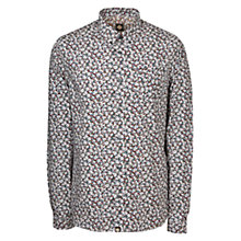 Buy Pretty Green Woodland Long Sleeve Shirt, Navy Online at johnlewis.com