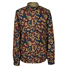 Buy Pretty Green Riley Long Sleeve Shirt, Red Online at johnlewis.com