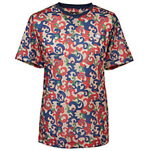 Buy Pretty Green Riley Printed T-Shirt, Red Online at johnlewis.com