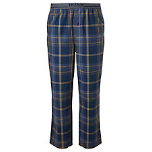 Buy BOSS Brushed Check Lounge Pants, Navy/Yellow Online at johnlewis.com