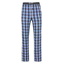Buy BOSS Woven Cotton Check Lounge Pants, Navy Online at johnlewis.com