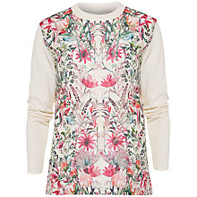 Buy Ted Baker Rayshel Layered Bouquet Jumper, Cream Online at johnlewis.com