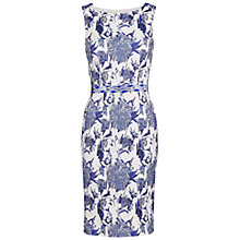 Buy Gina Bacconi Jacquard Dress With Waist Trim, Blue Online at johnlewis.com