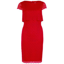 Buy Gina Bacconi Layered Corded Disc Lace Dress, Red Online at johnlewis.com