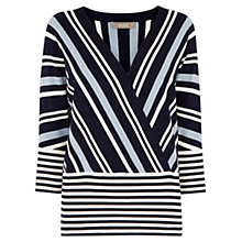 Buy Oasis The Briony Jumper, Blue/Multi Online at johnlewis.com