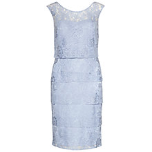 Buy Gina Bacconi Layered Lace Panels Dress, Perri Blue Online at johnlewis.com