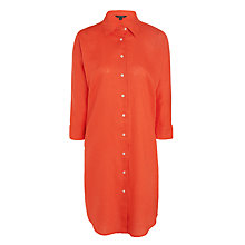 Buy Lauren Ralph Lauren Aeryn Linen Shirt Dress, Bright Poppy Online at johnlewis.com
