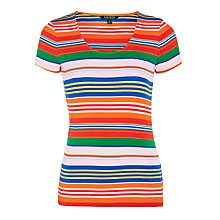Buy Lauren Ralph Lauren Edrianna Stripe T-Shirt, Multi Online at johnlewis.com