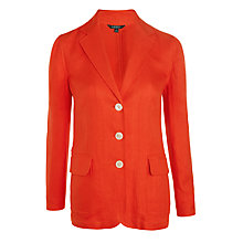 Buy Lauren Ralph Lauren Vaylor Linen Jacket, Bright Poppy Online at johnlewis.com