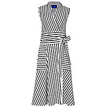 Buy Winser London Stripe Jersey Wrap Dress, Ivory/Midnight Online at johnlewis.com