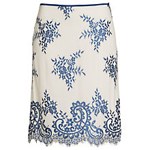 Buy Max Studio Bicolour Lace Detail Skirt, Blue/Cream Online at johnlewis.com