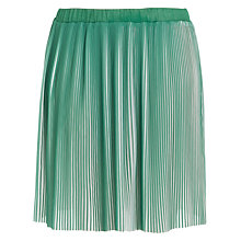 Buy Max Studio Coated Pleated Skirt, Green Online at johnlewis.com