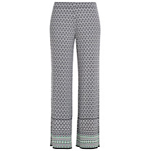 Buy Max Studio Printed Wide Leg Trousers, Navy/Off White Online at johnlewis.com