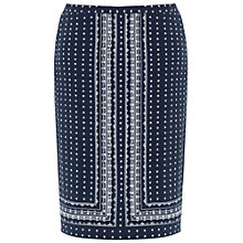 Buy Max Studio Ditsy Floral Skirt, Navy/Off White Online at johnlewis.com