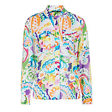 Buy Lauren Ralph Lauren Courtenay Printed Shirt, Multi Online at johnlewis.com