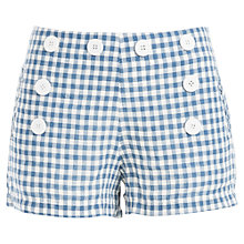 Buy Max Studio Gingham Shorts, Blue/White Online at johnlewis.com
