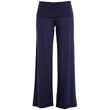 Buy Max Studio Wide Leg Jersey Trousers, Navy Online at johnlewis.com