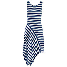 Buy Max Studio Stripe Jersey Dress, Ocean/Off White Online at johnlewis.com